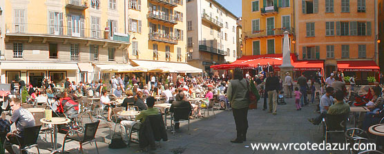 Nice - cafes in the old town